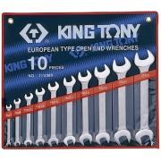 Комплект рожковых ключей 6-28мм, 10пр