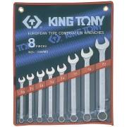 Комплект комбинированных ключей 10-22мм, 8пр