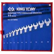 Комплект комбинированных ключей 8-24мм, чехол из теторона,11пр