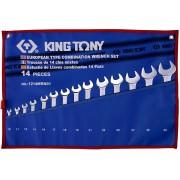 Комплект комбинированных ключей 10-32мм, чехол из теторона,14пр