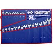 Комплект комбинированных ключей 6-32мм, чехол из теторона, 26пр