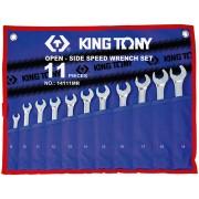 Комплект комбинированных трещоточных ключей, 8-19 мм, чехол из теторона, 11пр