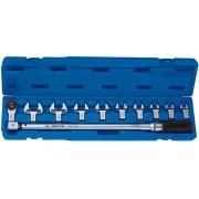 Динамометрический ключ 1/2 с набором рожковых насадок 13-30 мм, 40-200 Нм