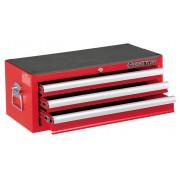 Ящик инструментальный, 3 полки, красный