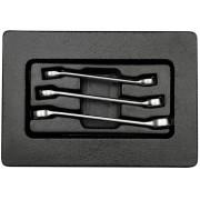 Комплект разрезных ключей хромированных в лотке 3 пр