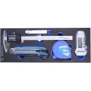 Набор инструментов электронный штангенциркуль, тестер, щупы и рулетка