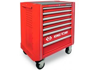 KING TONY 934A-010MRV Комплект инструмента в 13 ложементах EVA, 286 предметов в тележке 7 полок
