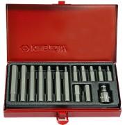 Набор вставок (бит) 10 мм, HEX, 4-12 мм, 15пр